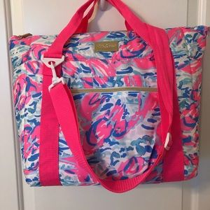 Lilly Pulitzer beach/insulated tote bag